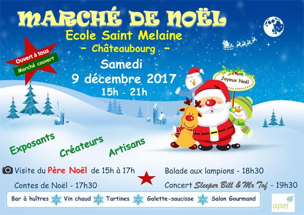 Marché de Noël de l'École Saint Melaine, Châteaubourg (35)